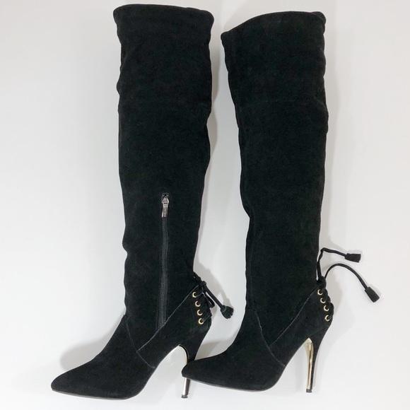 3ce668f81a7 Colin Stuart Shoes - Colin Stuart (VS) Over the Knee Suede Boot